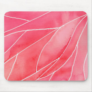 Red Marble Watercolour Break Mouse Mat