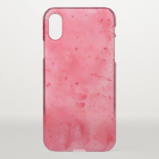 Red Marble Watercolour iPhone X Case