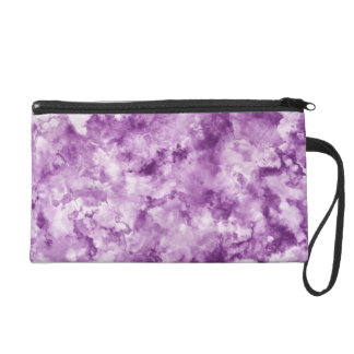Red Marble Wristlet