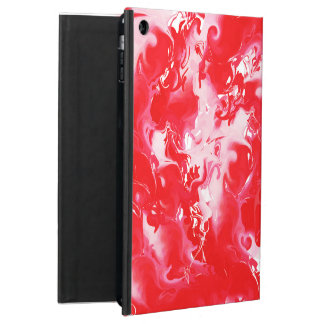 Red marbled texture, rich ebru technique cover for iPad air