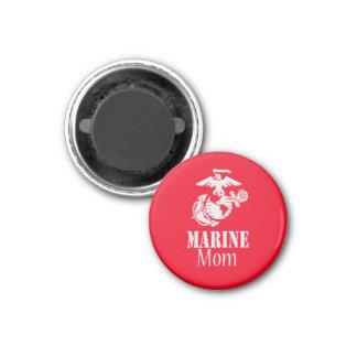 RED Marine Mom 3 Cm Round Magnet