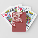 red maroon leaf modern design playing cards