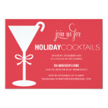 RED MARTINI | HOLIDAY COCKTAIL PARTY INVITE