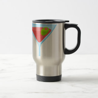 Red Martini Stainless Steel Travel Mug