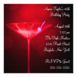 Red Martini Womans 40th Birthday Party Invite