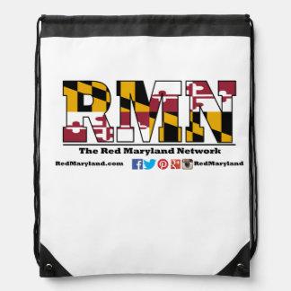 Red Maryland Drawstring Bag