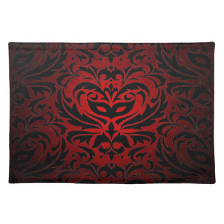 Red Masquerade Damask Stylish Placemat
