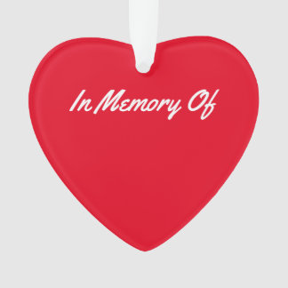 Red Memory Heart keepsake. Ornament