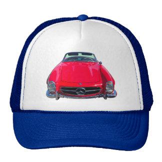 Red Mercedes Benz 300 SL Convertible Trucker Hat
