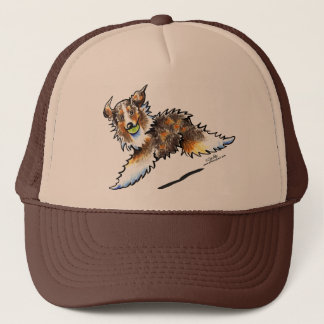 Red Merle Australian Shepherd Lets Play Trucker Hat
