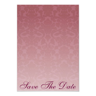 Red Merlot Damask Save The Date Announcement