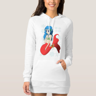 Red Mermaid and Snowflakes Tshirt
