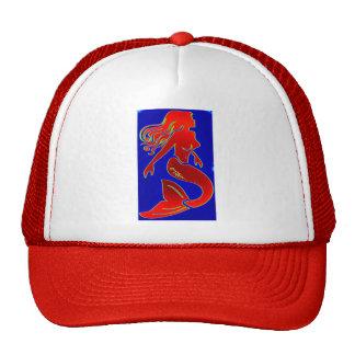 red mermaid hat