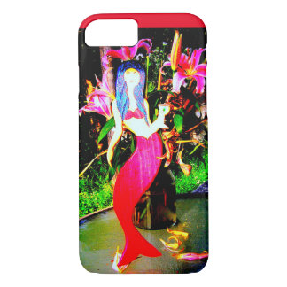 red mermaid partying iPhone 7 case