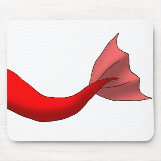 Red Mermaid Tail Mouse Pad