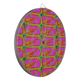 red mermaids swimming pink dartboard