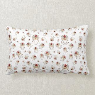 Red Merry Christmas - Filigree Christmas Angel Pillows