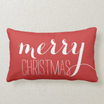 Red Merry Christmas   Holiday Throw Throw Pillows