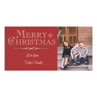Red Merry Christmas Photo Card