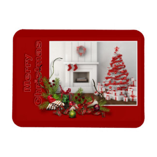 Red Merry Christmas Premium Magnet