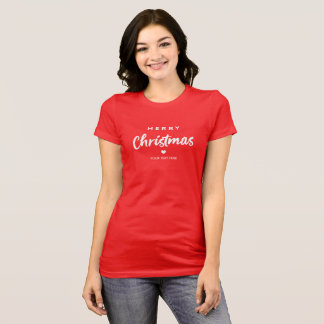 Red Merry Christmas T-Shirt