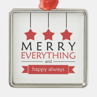 Red Merry Everything Holiday Christmas Ornament