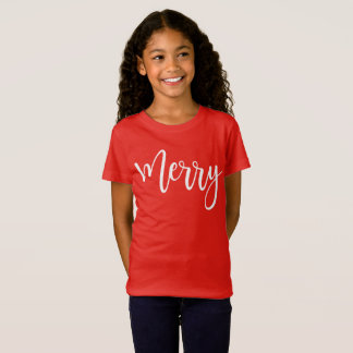 Red Merry Long Sleeve Shirt Christmas Gift