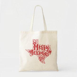 Red Merry Texmas Y'all Texas Christmas Tote Bag