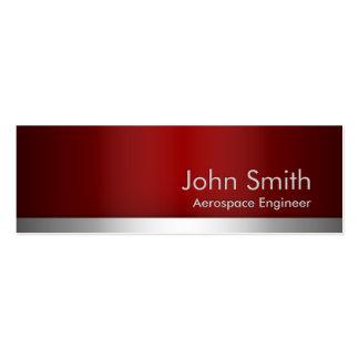 Red Metal Aerospace Engineer Business Card