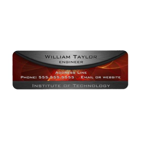 Red Metallic Elegance Return Address Label