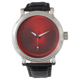 Red Metallic Look Watch