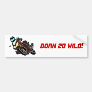 Red Metallic Motorcycle Racer Bumper Sticker