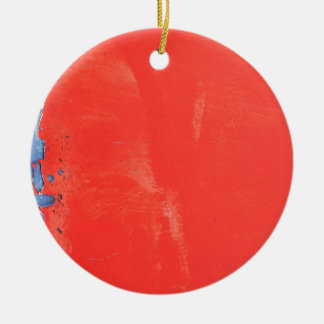 Red metallic texture design christmas ornament