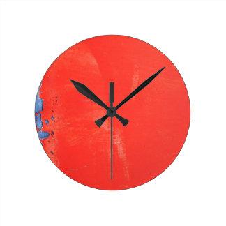 Red metallic texture design clock