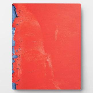 Red metallic texture design plaque