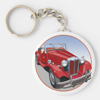 Red MG TD Key Ring