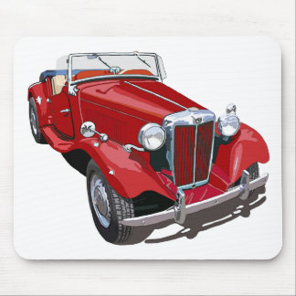 Red MG TD Mouse Mat
