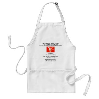 """Red Midge Wet Fly-Cruel Trout""  Apron"