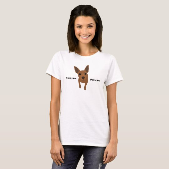 Red Min Pin Miniature Pinscher Women's T-Shirt