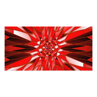 Red mineral photo greeting card