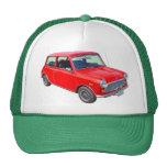 Red Mini Cooper Antique Car Hat