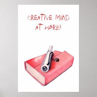 Red Mini Sketchbook Poster