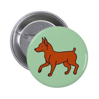 Red Miniature Pinscher 6 Cm Round Badge
