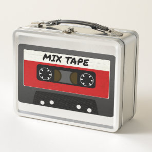 Red Mix Tape - 80s And 90s Retro Inspired Gift Metal Lunch Box
