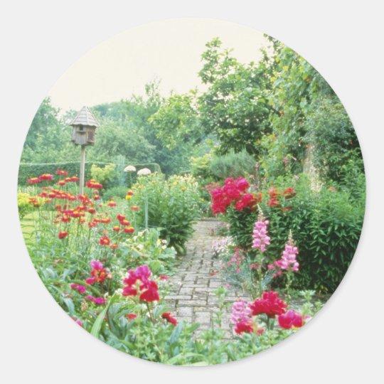 Red Mixed Cottage Garden - Peony, Pyrethrum, Alliu