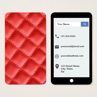 Red Mock Quilted Texture iPhone Style Template