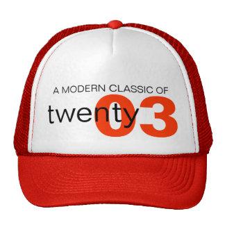 Red modern classic age / birth year hat