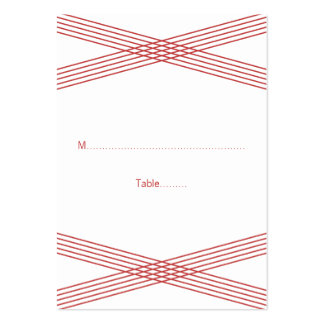 Red Modern Deco Wedding Place Cards Large Business Cards (Pack Of 100)