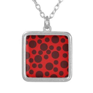 Red Modern Dots Pattern Pendants