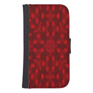 Red modern pattern samsung s4 wallet case